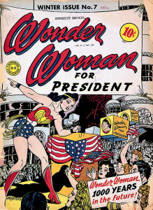 THE SECRET HISTORY OF WONDER WOMAN (cover of WONDER WOMAN #7, Winter 1943) (Art by HARRY G PETER)