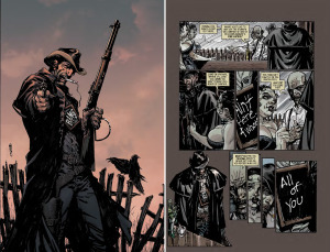 "DEADLANDS, VOLUME ONE: DEAD MAN'S HAND: ""Death Was Silent"" (Written by RON MARZ, art by BART SEARS and MICHAEL ATIYEH)"