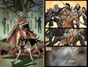 "DEADLANDS, VOLUME ONE: DEAD MAN'S HAND: ""Massacre At Red Wing"" (Written by JIMMY PALMIOTTI and JUSTIN GRAY, art by LEE MODER and MICHAEL ATIYEH)"
