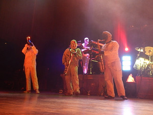 Here Come the Mummies (BB Queen, The Flu, Spaz, Mummy Rah) (photo credit: DARREN TRACY)