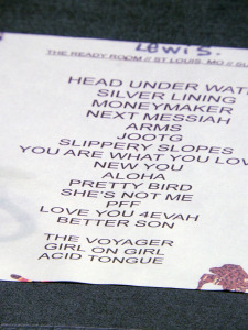 Jenny Lewis set list (photo credit: DARREN TRACY)