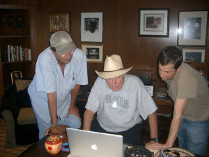 Patrick Tourville, Jerry Jeff Walker and OK BUCKAROOS executive producer Marty Garvin (publicity still)