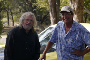 Patrick Tourville with Ray Wylie Hubbard (publicity still)