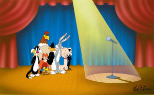 SPEECHLESS (Warner Brothers' Mel Blanc tribute artwork)