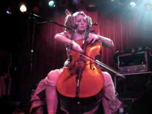 Rasputina's Melora Creager on stage, circa 2010 (uncredited photo)