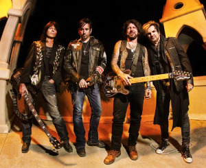 Devil City Angels, 2015 (Rudy Sarzo, Brandon Gibbs, Tracii Guns, Rikki Rockett) (publicity photo)