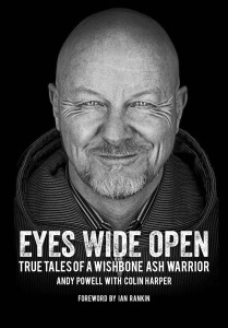 EYES WIDE OPEN (Andy Powell book cover)