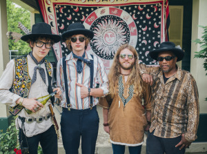 "Blackfoot Gypsies (Matthew Paige, Dylan Whitlow, Zack Murphy, Oliver ""Ollie Dogg"" Horton) (photo credit: JON MORGAN)"