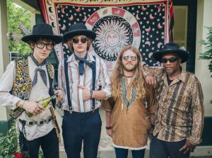 "Blackfoot Gypsies (Matthew Paige, Dylan Whitlow, Zack Murphy, Oliver ""Ollie Dogg"" Horton) (photo credit: JON MORGAN)"