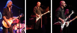 Wishbone Ash, night 1 (Muddy Manninen; Andy Powell; Andy Powell with Bob Skeat) (photo credits: DARREN TRACY)