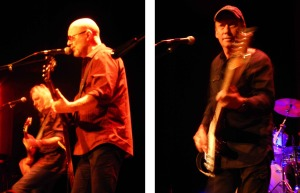 Wishbone Ash, night 2 (Andy Powell with Muddy Manninen; Bob Skeat) (photo credits DARREN TRACY)