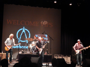 Wishbone Ash, night 2 sound check at the Wildey Theatre (photo credit: DARREN TRACY)