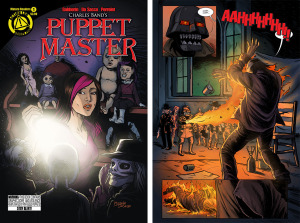 PUPPET MASTER Issue 1 cover, page 3 (Written by SHAWN GABBORIN, cover and art by MICHELA DA SACCO and YANN PERRELET)