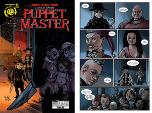 PUPPET MASTER Issue 3 cover, page 3 (Written by SHAWN GABBORIN, cover and art by MICHELA DA SACCO and YANN PERRELET)