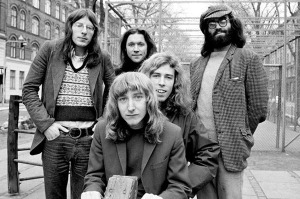 "Stackridge, 1971 (Andy Davis, James Warren, Michael ""Mutter"" Slater, Billy Bent, Michael Evans) (photo credit: JORGEN ANGEL)"