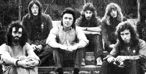 "Stackridge, 1971 (Mike Evans, Andy Davis, Michael ""Mutter"" Slater, Jim ""Crun"" Walter, James Warren and Billy Bent ) (publicity photo)"