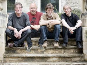 "Stackridge, 2008 (Andy Davis, Michael ""Mutter"" Slater, Jim ""Crun"" Walter, James Warren) (publicity photo)"