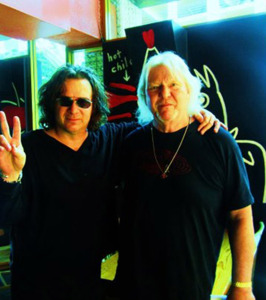 Billy Sherwood with Chris Squire (uncredited photo)