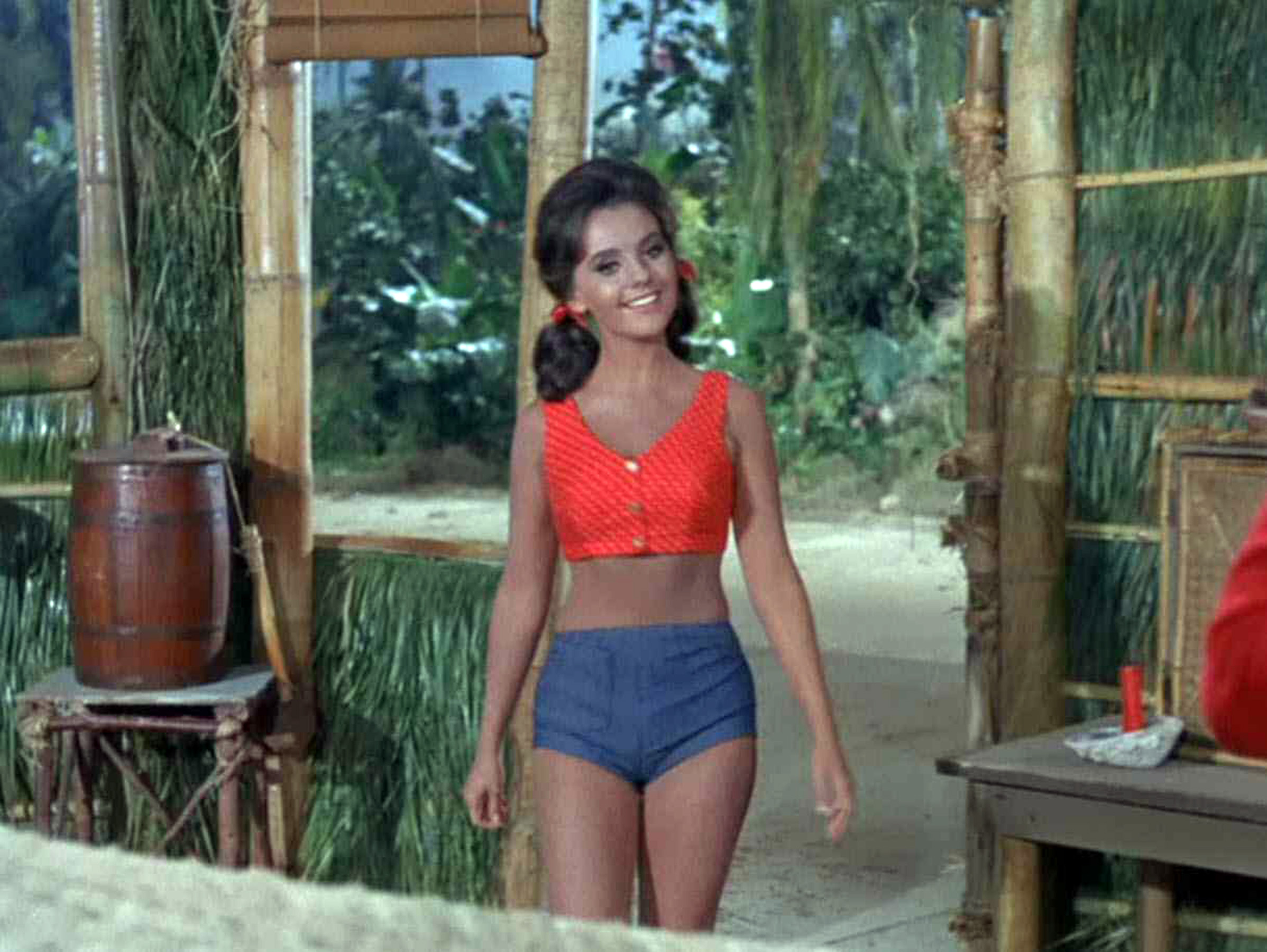 a4d4074a7a Dawn Wells as Mary Ann in that classic two-piece outfit (video still)