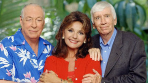 Dawn Wells with Russell Johnson and Bob Denver (uncredited photo)