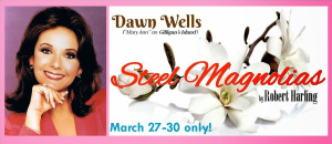 STEEL MAGNOLIAS featuring Dawn Wells (theater card for Judson Theatre's 2014 production)