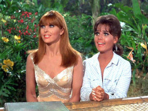 Tina Louise and Dawn Wells in GILLIGAN'S ISLAND (video still)