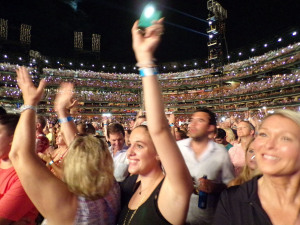 Paul McCartney (The Busch Stadium crowd enjoys the show) (photo credit: JEFF KING)