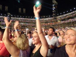 Paul McCartney (The Busch Stadium crowd enjoys the show) (photo credit: JEFF KING)