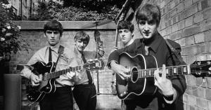 EIGHT DAYS A WEEK: THE TOURING YEARS (George Harrison, RIngo Starr, Paul McCartney, John Lennon, circa 1964) (uncredited photo)