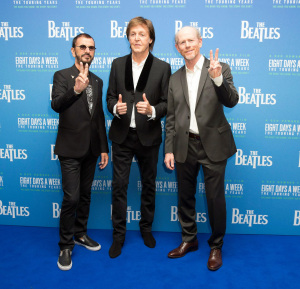 EIGHT DAYS A WEEK: THE TOURING YEARS (Ringo Starr, Ron Howard, Paul McCartney) (photo courtesy: STUDIOCANAL)