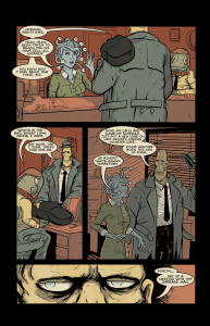 HANK STEINER, MONSTER DETECTIVE Page 9 (Written by SCOTT R SCHMIDT, art by TYLER SOWLES and SARA SOWLES)