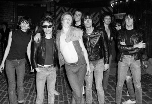 The Damned and friends, circa 1977 (Chrissie Hynde, Tommy Ramone, Rat Scabies, Captain Sensible, Dee Dee Ramone, Brian James, Joey Ramone, Johnny Ramone) (photo courtesy: CAPTAIN SENSIBLE)