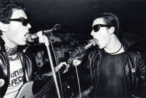 The Damned, circa 1976 (Captain Sensible, Dave Vanian) (photo credit: JOHN INGHAM)