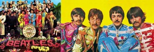SERGEANT PEPPER'S LONELY HEARTS CLUB BAND; The Beatles (Ringo Starr, John Lennon, Paul McCartney, George Harrison) (publicity photo)