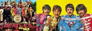 SERGEANT PEPPER'S LONELY HEARTS CLUB BAND; The Beatles (Ringo Starr, John Lennon, Paul McCartney, George Harrison) (publicity photo)