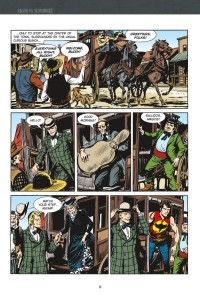 ZAGOR VERSUS SUPERMIKE, page 48 (written by GUIDO NOLITTA, art by GALLIENO FERRI)