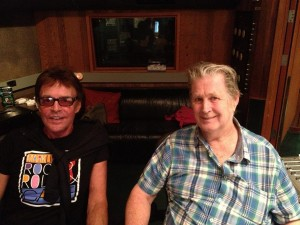Mark Lindsay with Brian Wilson, 2013 (photo credit: JEFFREY FOSKETT)