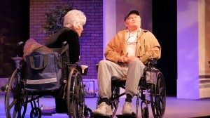 Micky Dolenz and Joyce DeWitt in a 2014 production of COMEDY IS HARD! (uncredited photo)