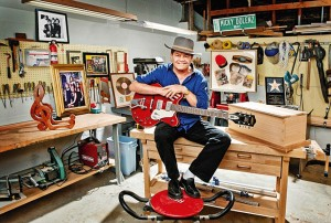 Micky Dolenz in his Dolenz and Daughters workshop, 2014 (uncredited photo)