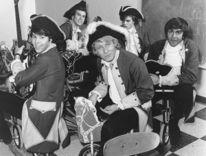 Paul Revere and the Raiders, 1967 (Phil Volk, Drake Levin, Paul Revere, Mike Smith, Mark Lindsay) (photo credit: ASSOCIATED PRESS)